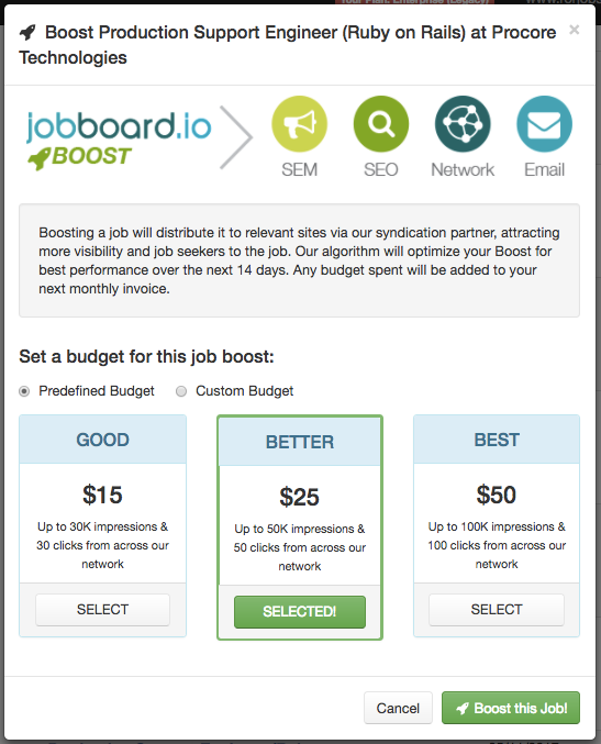 Introducing JobBoard.io Boost!