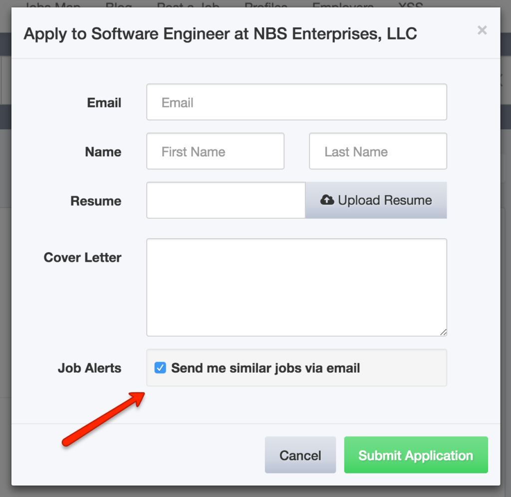 New Feature: Job Alert Sign up on Job Application Form
